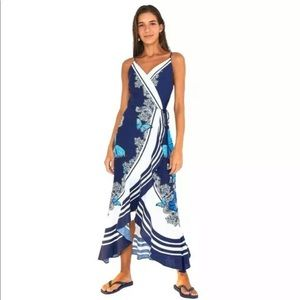 FARM Rio Butterfly Wrap Midi Maxi Dress